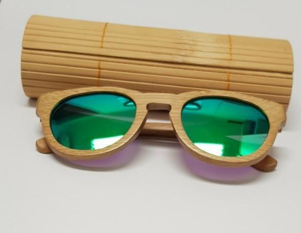 8ce991fe8 Óculos De Sol Unissex Madeira/bambu - Bijouterias, relógios e ...