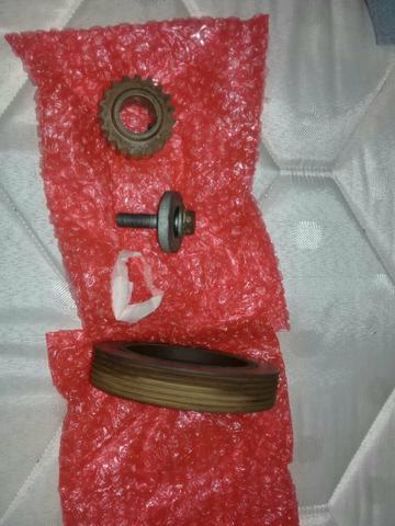 Polia do eixo verabrequim c/engrenagem e parafuso motor scenic 2010, 1.6 16v original - Foto 3