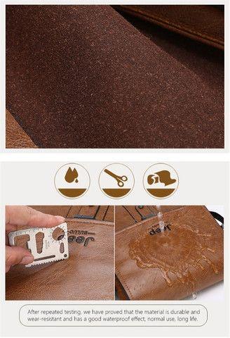Bolsa e carteira confeccionada em couro PU com a marca JEEP - Foto 6