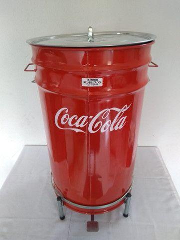 Lixeiras Cervejeiras metálicas personalizadas 60 litros - Foto 6