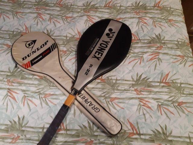 Duas Raquetes de Squash por 100RS
