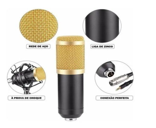 Microfone Estúdio Profissional Condensador Andowl 7451 - Foto 4