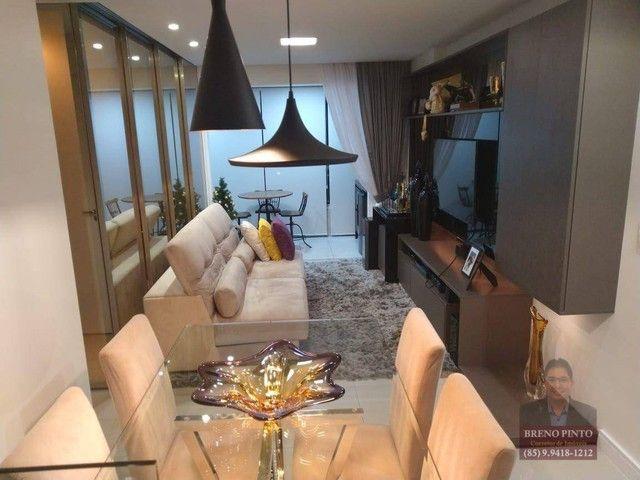 Apartamento no Mareés Residence Meireles com 2 dormitórios à venda, 73 m² por R$ 650.000 -