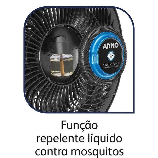 Ventilador Silence Force Repelente Líquido Arno Preto 110V - Foto 4