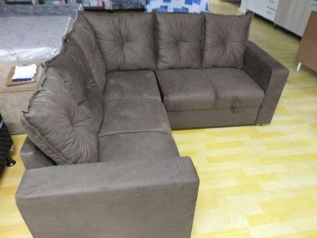 Oferta**Sofa De Canto Animalle , Suede, 1,80x1,80m *Novo - Foto 2