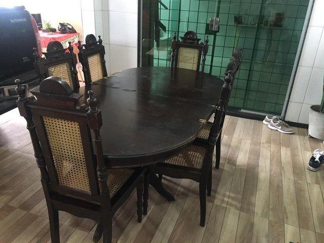 Mesa de jantar retrátil antiga - Foto 3