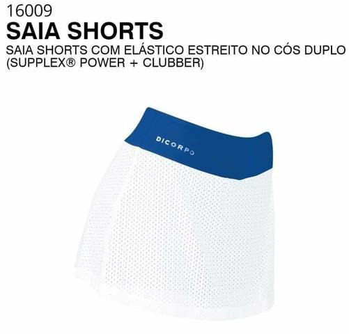 Short Saia Dicorpo Moda dos Famosos Fitness