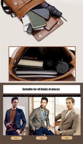 Bolsa e carteira confeccionada em couro PU com a marca JEEP - Foto 2