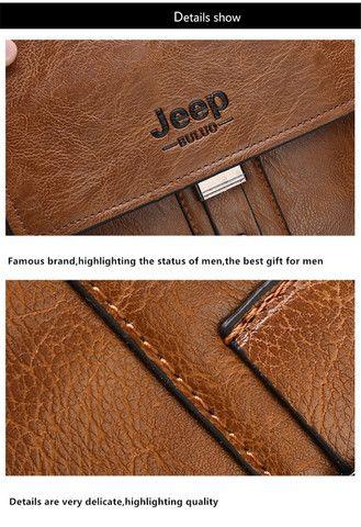 Bolsa e carteira confeccionada em couro PU com a marca JEEP - Foto 4