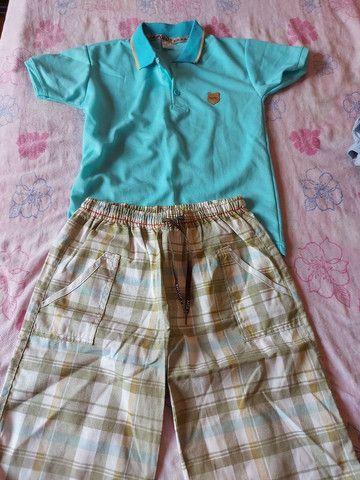 Bermuda de moletom,conjunto de bermuda e camisa Polo, calça e bermudas jeans  - Foto 6