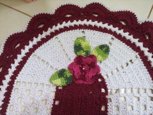 Jogo de banheiro 3 peças em crochê