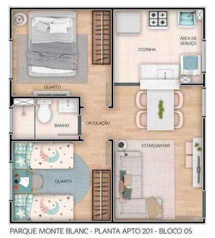 Parque Monte Blanc - Apartamentos de 2 dorms. 39 a 45m² - São Carlos - São Paulo - Cod. 41 - Foto 14