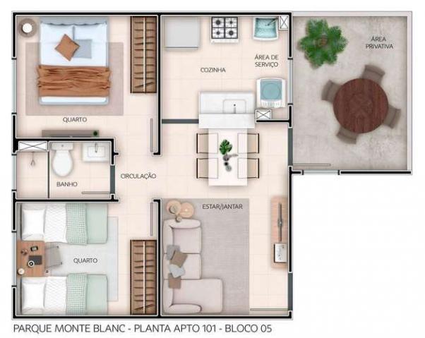 Parque Monte Blanc - Apartamentos de 2 dorms. 39 a 45m² - São Carlos - São Paulo - Cod. 41 - Foto 13