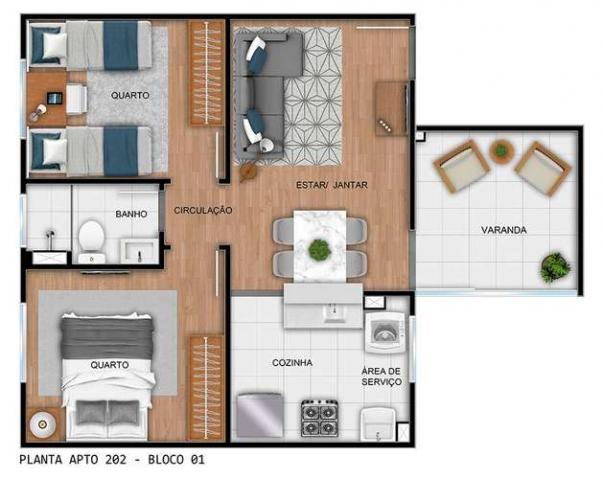 Parque Rio das Vertentes - Apartamentos de 2 dorms. 39 ou 45m² - São José do Rio Preto - S - Foto 15