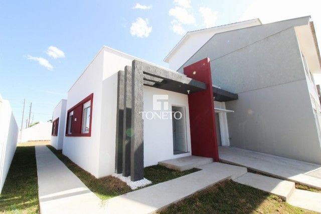 Linda casa com arquitetura moderna.