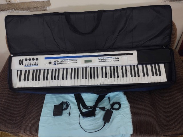 Piano Casio Privia PX5-S completo. Teclado Sintetizador. Impecável. Sem marcas de uso. - Foto 4
