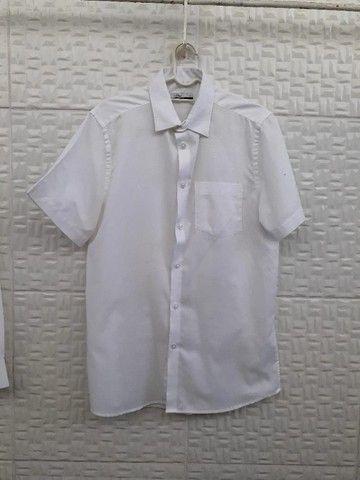 Camisa Branca Manga Curta - Social Masculina - Tam 1/P - Riachuelo Laville - Foto 2