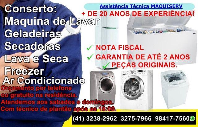 Conserto Maquina de Lavar Roupa/Geladeira * Novo Mundo/Portão/Capão Raso