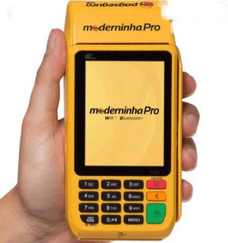 A Moderninha Pro Point A Pronta entrega chip NFC Pagseguro