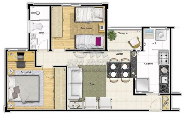Apartamento à venda com 2 dormitórios em Colina verde, Jaboticabal cod:V2626 - Foto 3