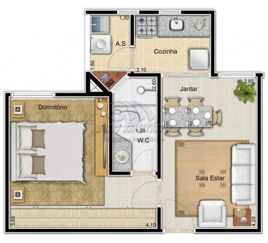 Apartamento à venda com 1 dormitórios em Colina verde, Jaboticabal cod:V1570 - Foto 3