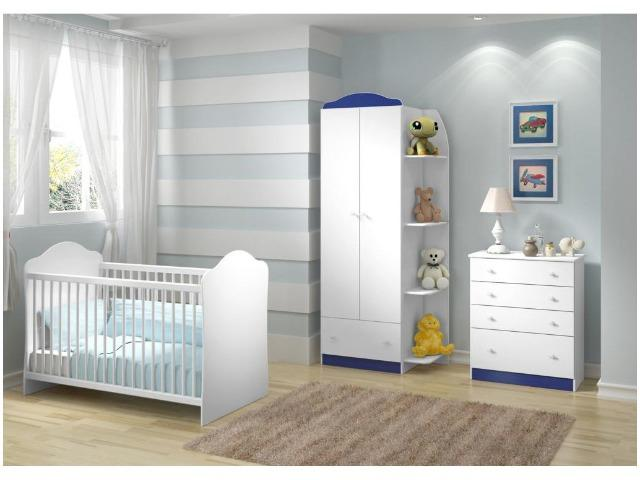 Quarto de Bebê Completo com Berço Guarda-Roupa - e Cômoda Multimóveis Confete Luiza - Foto 3
