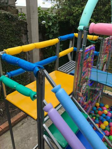 Aluguel de brinquedos,cama elástica/piscina de bolinhas - Foto 2