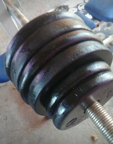 40kg de Anilhas - Pesos de academia