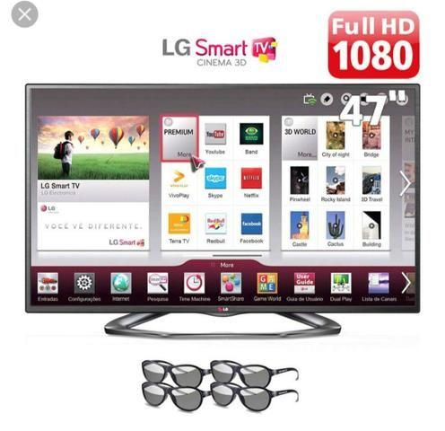 Smart TV LG 47 polegadas 3d com 4 óculos