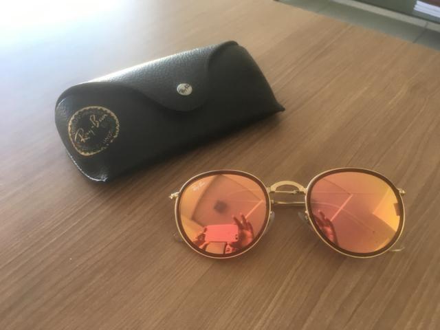 8a0e0d8181 Óculos ray ban round dobrável rosé - Bijouterias, relógios e ...