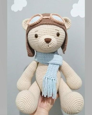 Urso Gigante De Crochê Amigurumi - R$ 228,00 em Mercado Livre | 480x384