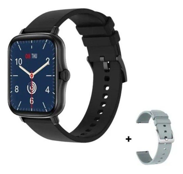 Relógio Smartwatch Colmi p8 plus Original Preto + pulseira extra silicone