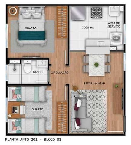 Parque Rio das Vertentes - Apartamentos de 2 dorms. 39 ou 45m² - São José do Rio Preto - S - Foto 14