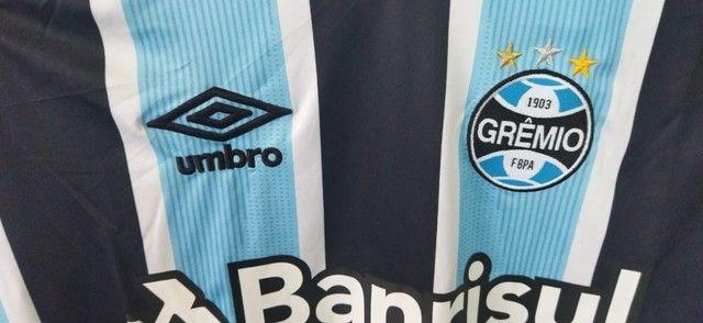 Camisa Grêmio 2021/22 Manga Longa Tricolor - Foto 5