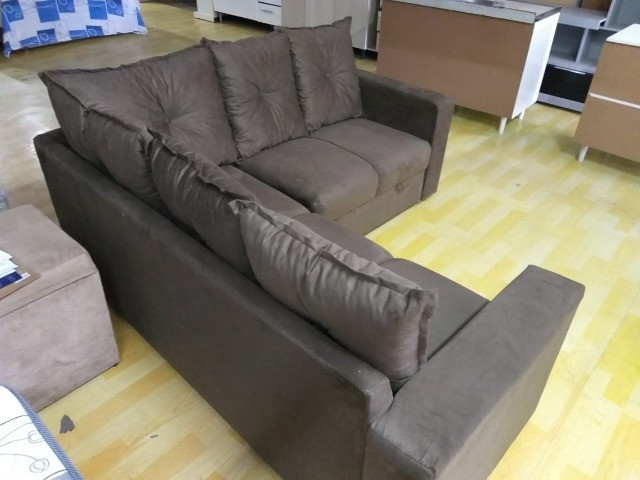 Oferta**Sofa De Canto Animalle , Suede, 1,80x1,80m *Novo - Foto 5