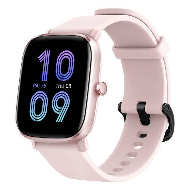 Relógio Smartwatch Amazfit GTS 2 Mini A2018 Rosa - 12X Sem Juros