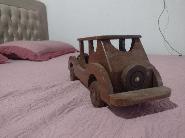 Carro para decoração em pura madeira - Foto 3