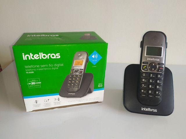 Telefone s/fio c/ identificador chamadas - Foto 3