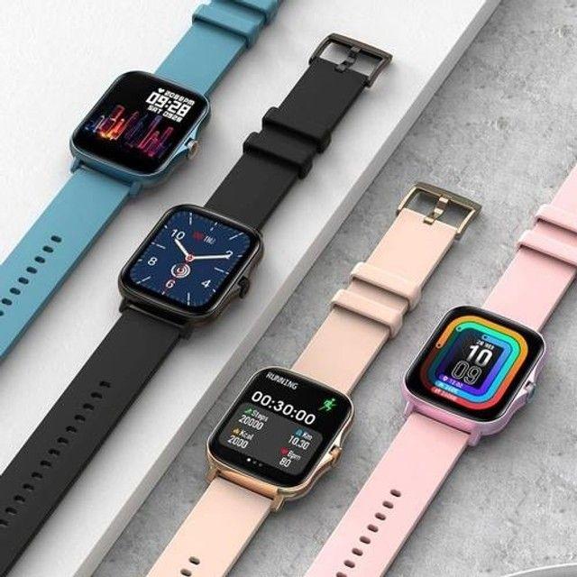 Relógio Smartwatch Colmi p8 plus Original Preto + pulseira extra silicone - Foto 3