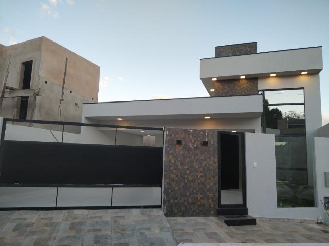Casa Nova c/ 3 Suítes + Área de Lazer em Cond. Fechado na DF-425 - Sobradinho