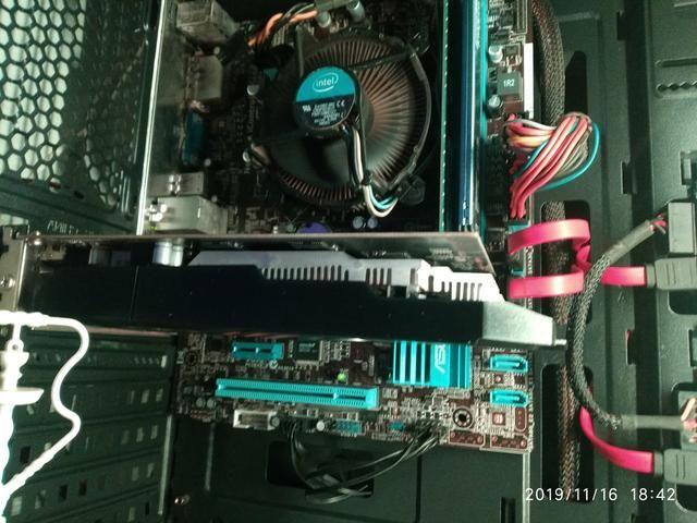Kit gamer placa mãe placa de vídeo processador i5 8 gb memória ram - Foto 3