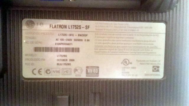 """Monitor Lcd LG Flatron L1752S-SF 17"""" - Foto 4"""