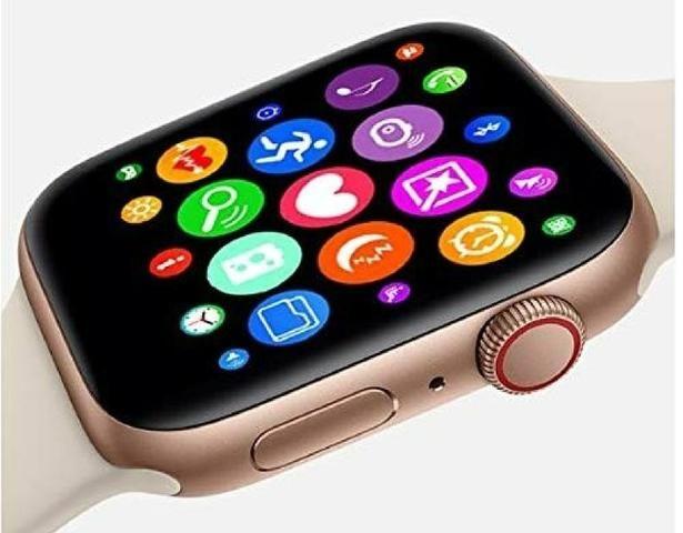 Relógio inteligente rose compatível para iPhone Samsung - Foto 3
