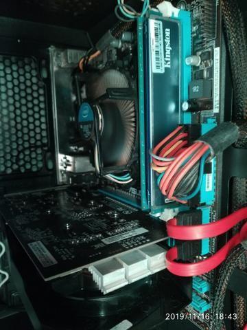 Kit gamer placa mãe placa de vídeo processador i5 8 gb memória ram
