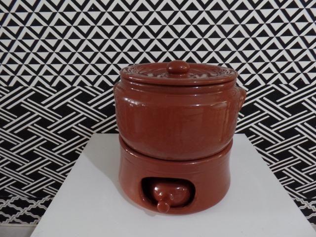 f920f465f06cd Caçarola com Fogareiro número 4 de barro 5 litros Rechaud Completo ...