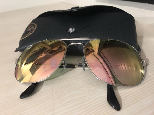 f59dc7244 Óculos ray ban modelo general feminino espelhado original ...