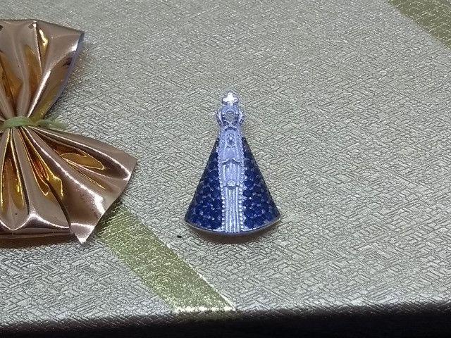 Pingente Prata Pura 925 Nossa Senhora Aparecida Produto Novo com Garantia - Foto 2