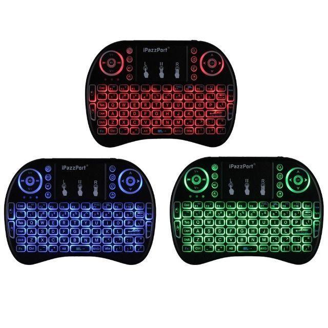 Mini Teclado Sem Fio TouchPad Universal Iluminação LED- NOVO - Foto 3