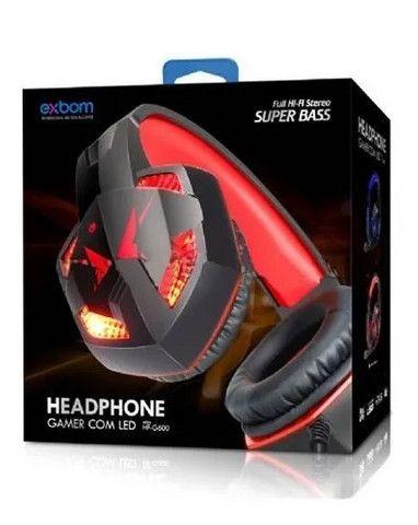 Headset Gamer Super Bass 7.1 Full P2 Usb Led Microfone