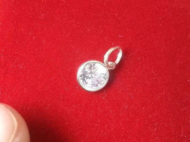 Pingente Prata Pura 925 Redondo 6 mm Produto Novo com Garantia - Foto 2